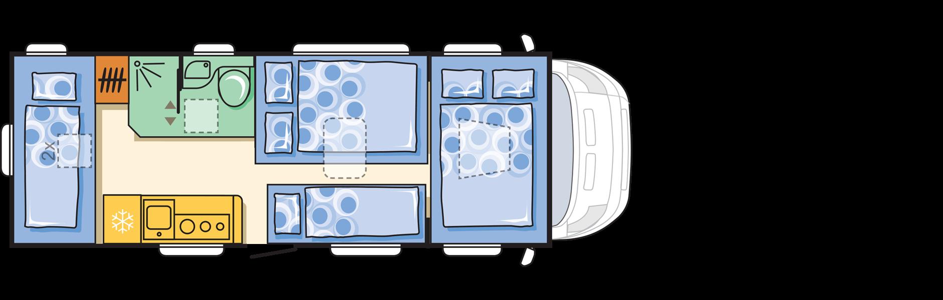 מבנה דגם קורל xl